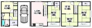 野江3丁目 一戸建住宅-1